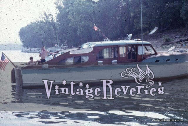 Old 1950s yacht boat