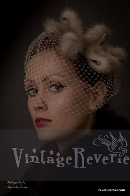 Fur veiled 1930s hat portrait