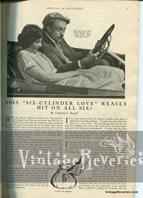 Six Cylinder Love Movie Review 1922