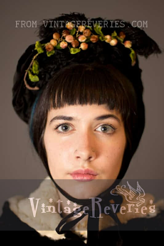 1800s winter bonnet