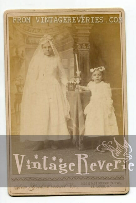 First communion photo turn of the century st louis