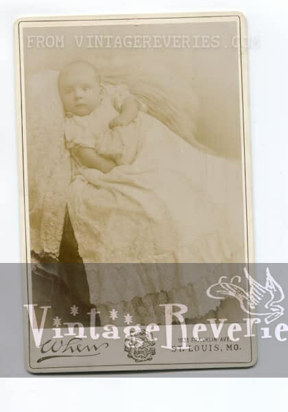 St. louis Mo When Studios baby photo 1890s