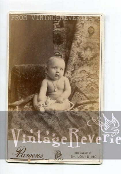 1800s baby photograph St. Louis