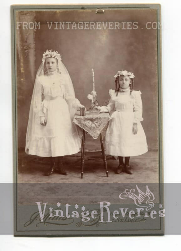 turn of the century first communion photo