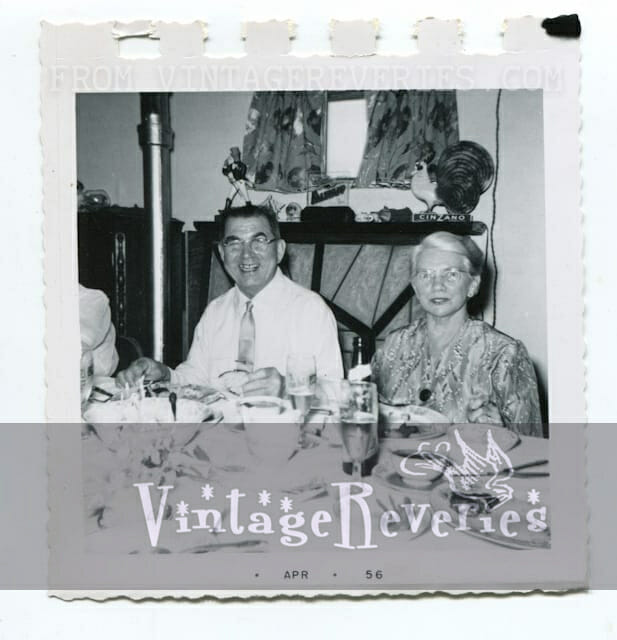 1950s family party photo