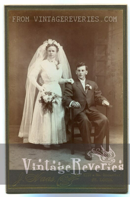 1890s wedding dress photo