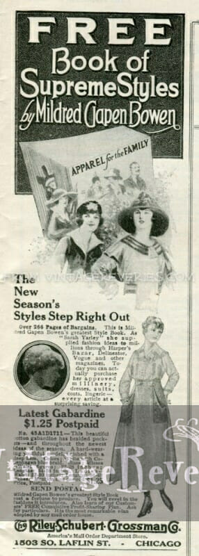 1917 Fashion Advertisement - the Book of Supreme Styles by Mildred C. Bowen