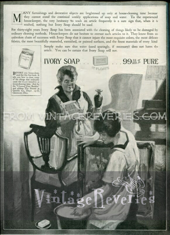 turn of the century Ivory Soap ad - April 1917 issue of The Modern Priscilla