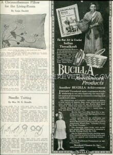 Bucilla Needlework Products advertisement from 1917