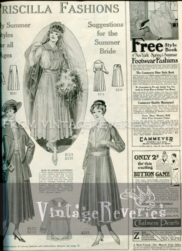 edwardian bridal fashions