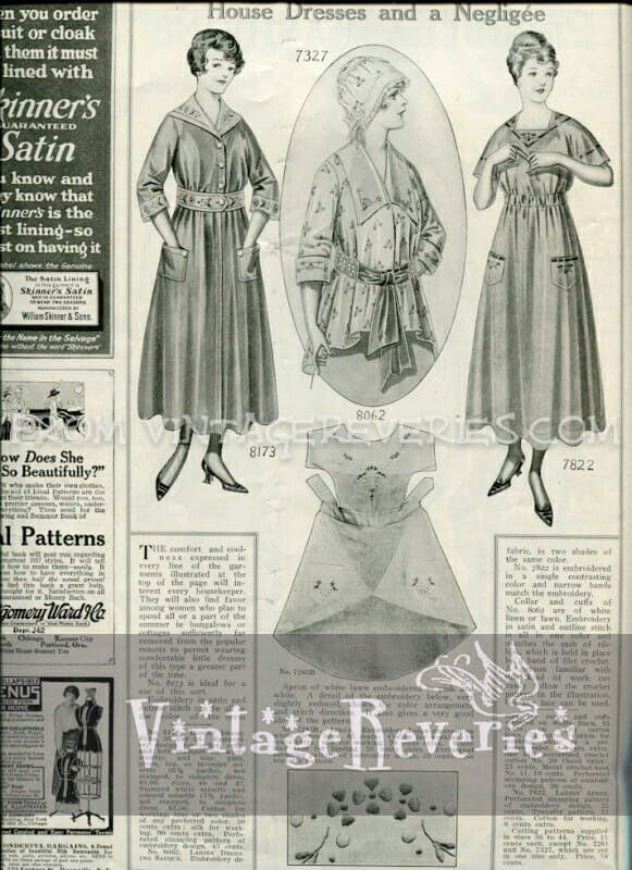 1917 house dress fashions