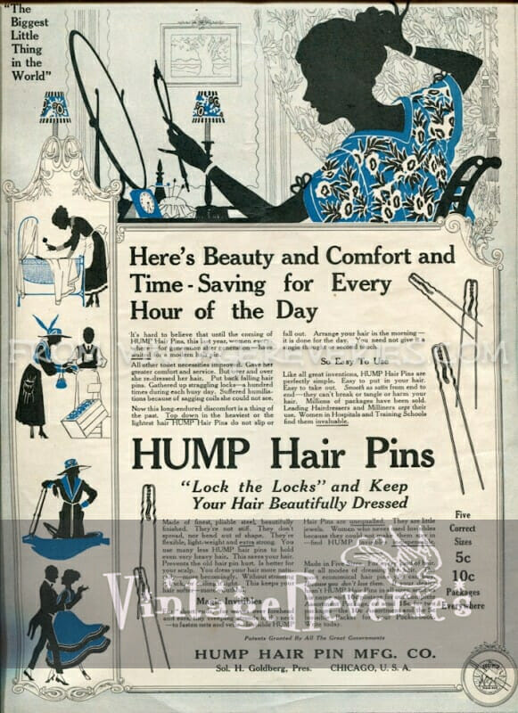 old hair pin advertisement