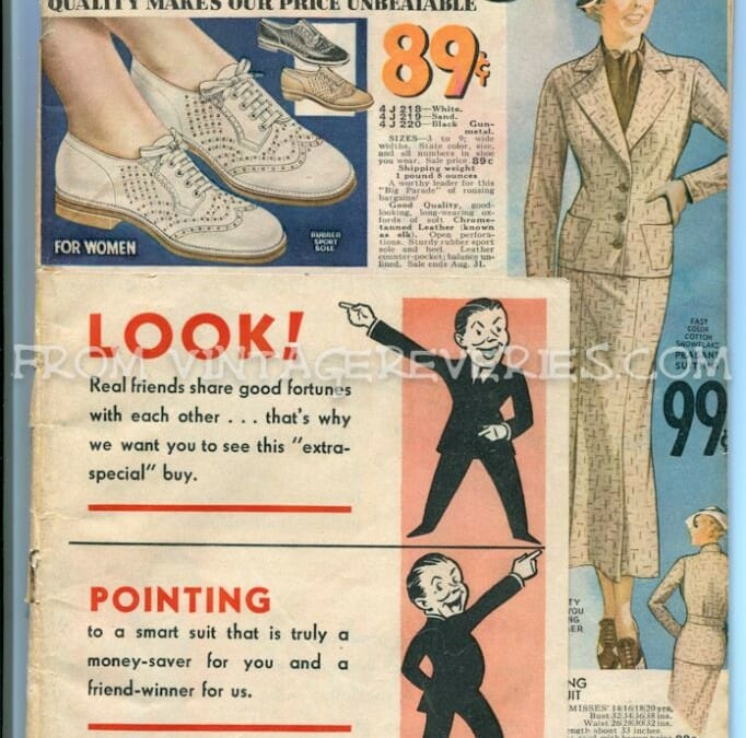 Summer 1935 Mail Order Catalog – Cover & Womens Shoe Fashions