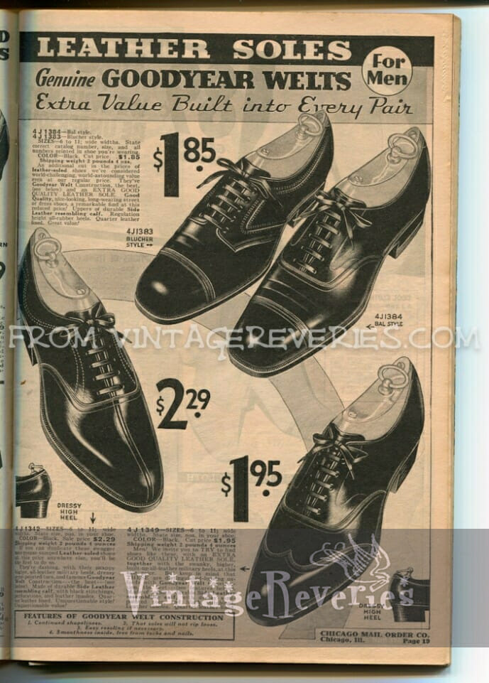 1930s mens dress shoe styles
