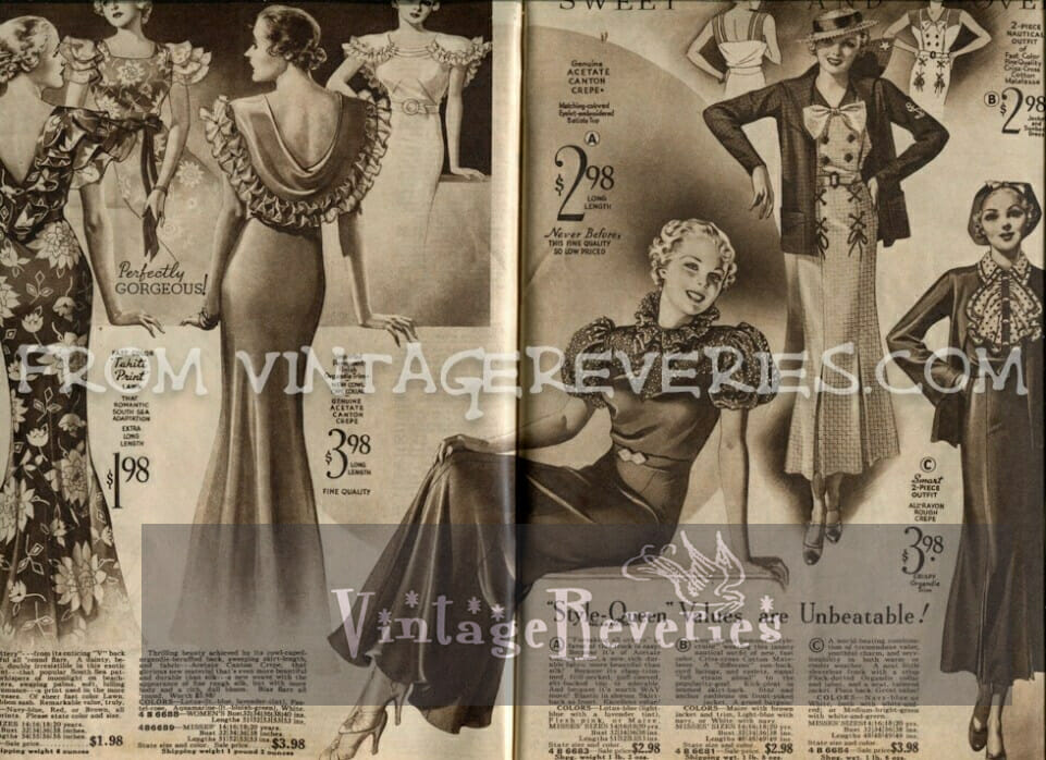 1930s formal dresses and 1930s ballgowns