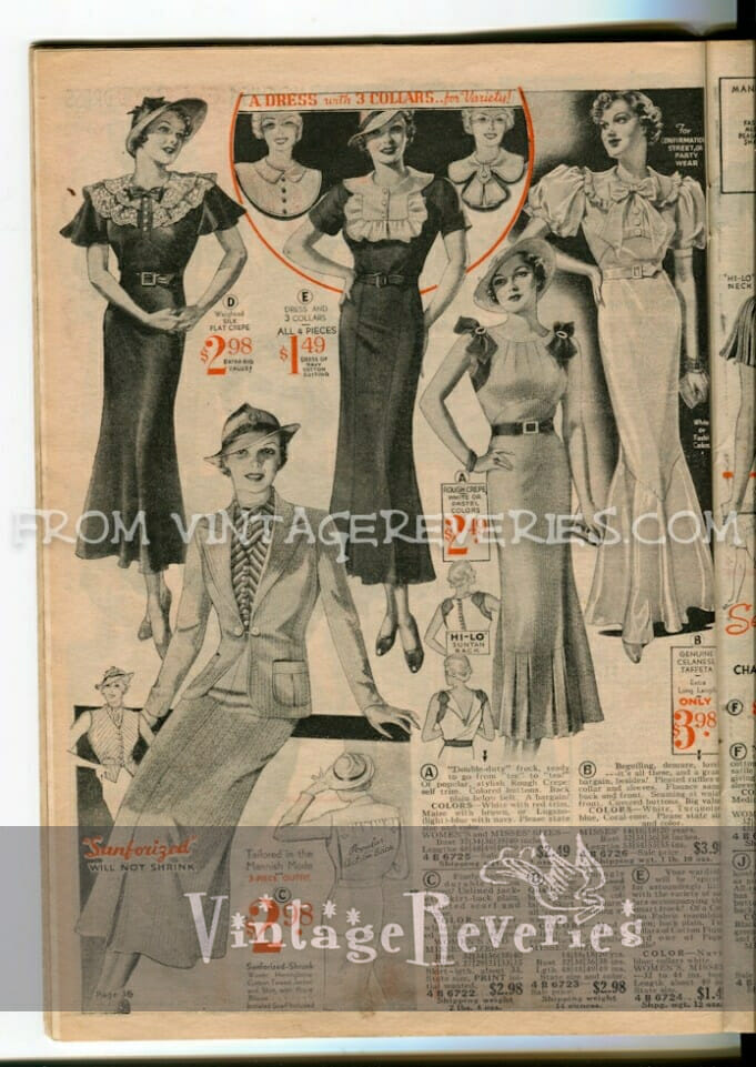 1935 dress fashion advertisement