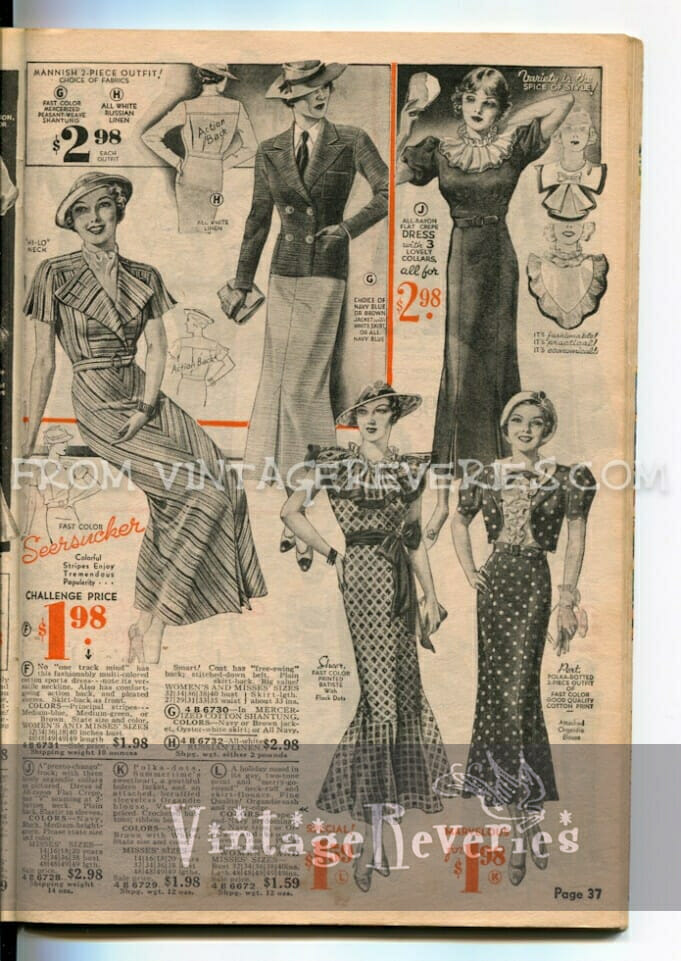 1935 fashion advertisement
