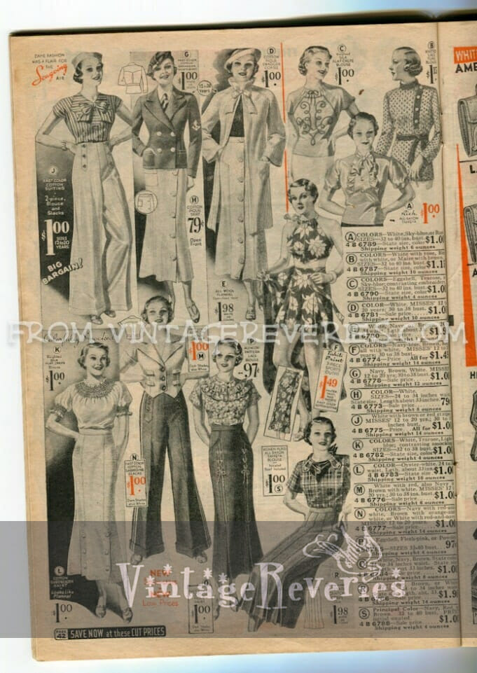 1930s womens pants fashion