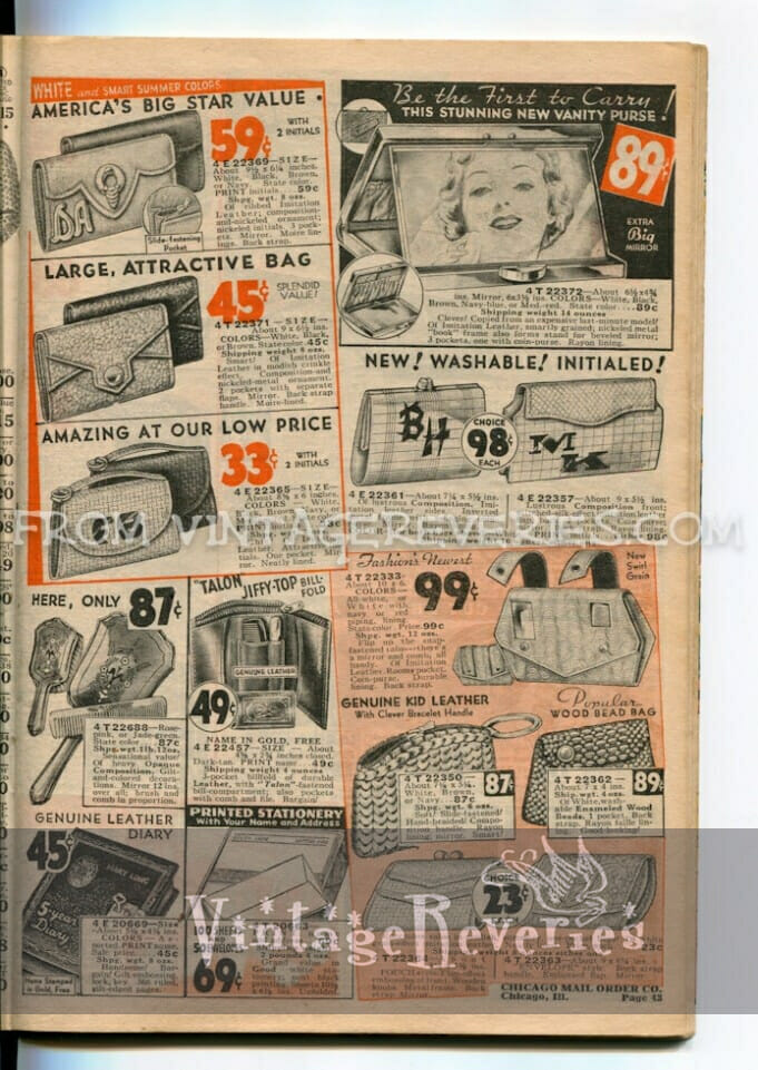 1935 ads for medicines, cosmetics, douches, sanitary napkins… etc.