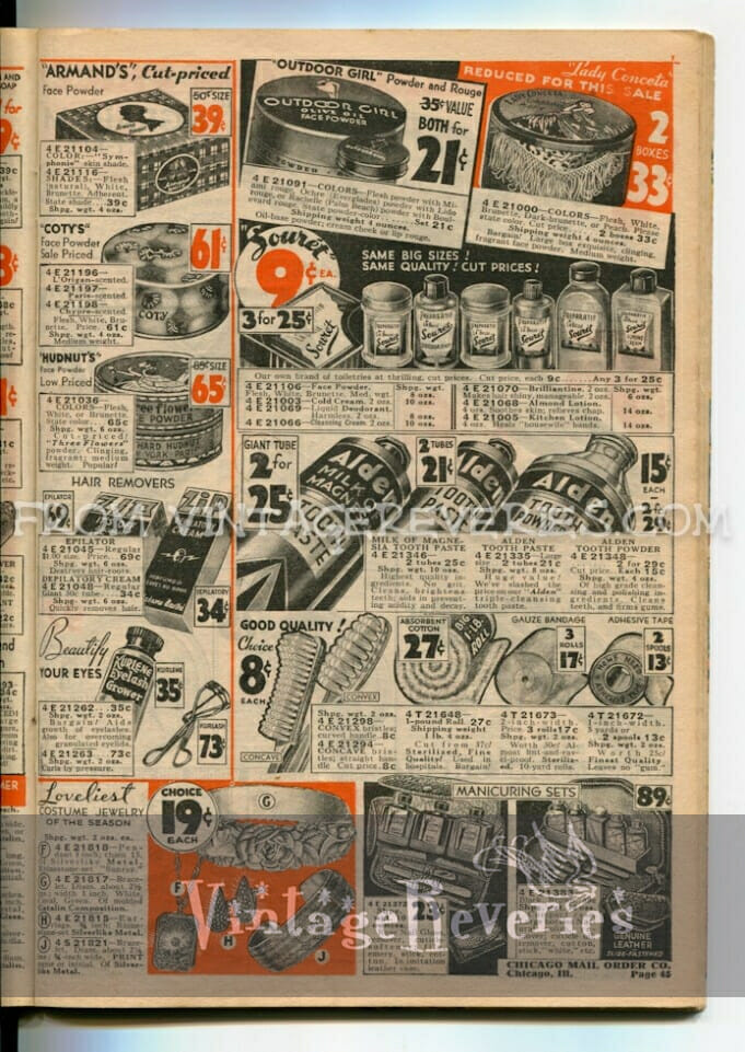 1930s cosmetic ads