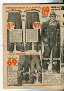 1930s Mens Clothing Advertisements