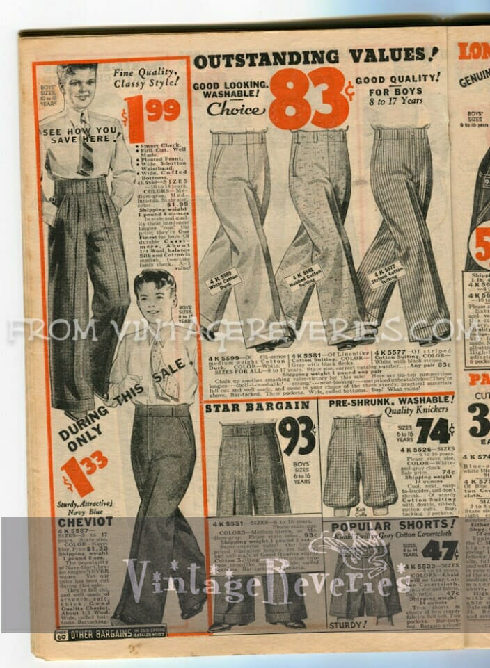 1930s Mens Fashion Advertisements