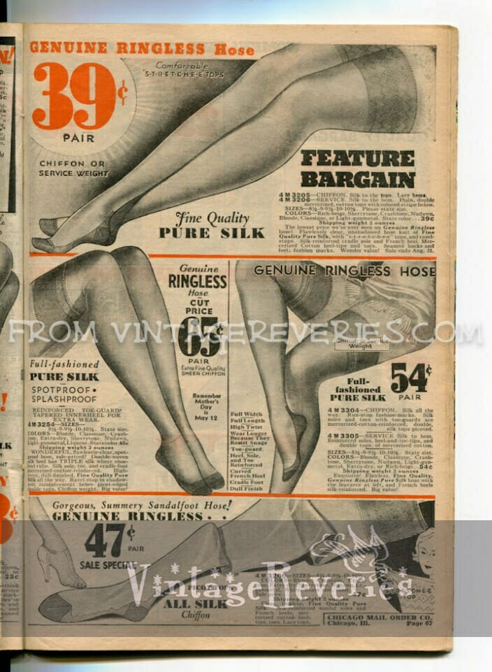 1930s stockings advertisements