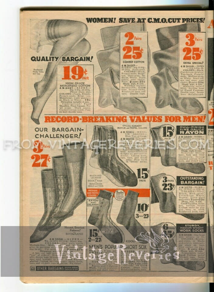 vintage silk stockings advertisements
