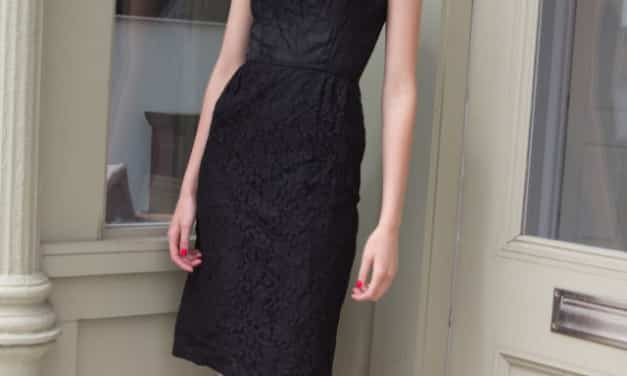SOLD! Vintage 1950s/60s black lace cocktail wiggle hourglass sheath dress – must see!