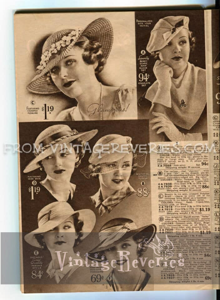 great depression hat fashions