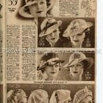 1935 Hat Fashions, Womens Hat Advertisements