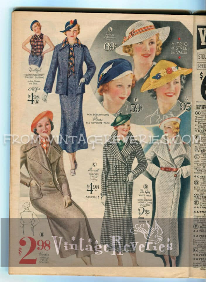 1930s women's suit and coat styles