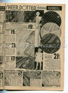 great depression fabric advertisements