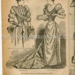 1890s ladies formal fashion illustration