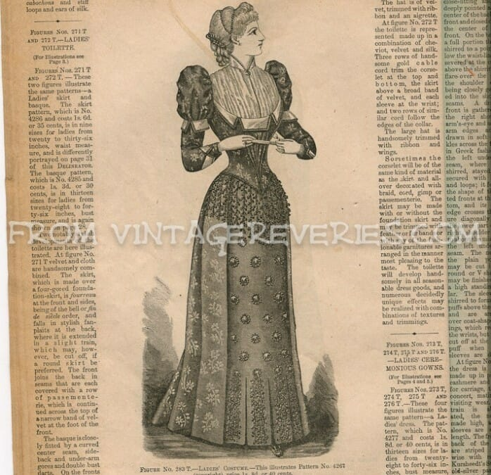 Remarks on Current Fashions & Fashion Illustrations from 1892