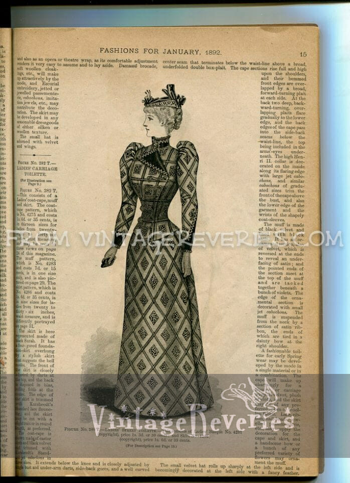 1890s woman in a dress