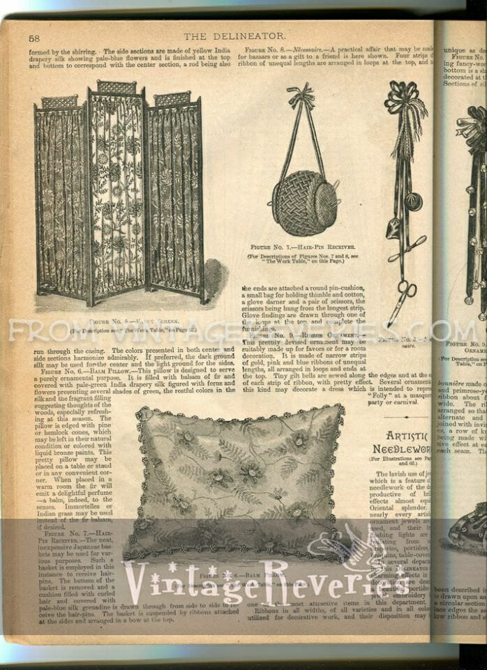 1890s pillow fashions