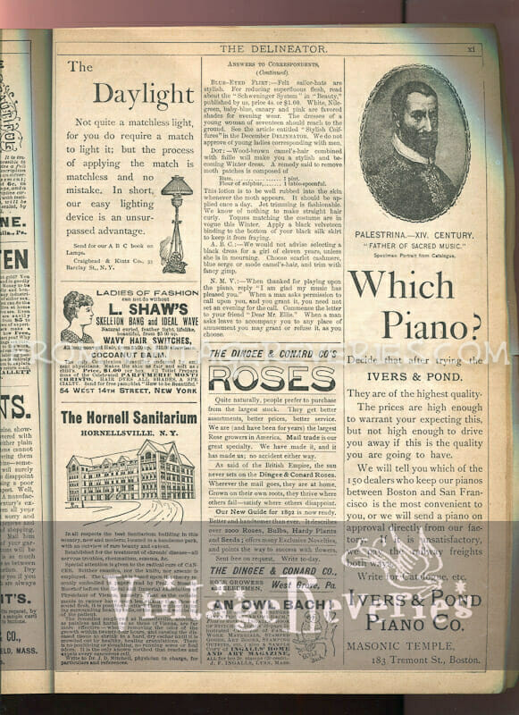 1890s piano advertisement