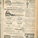 Victorian scissors advertisement
