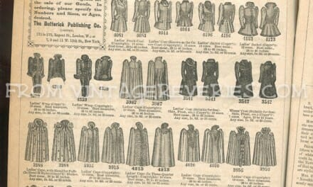 Victorian fashion advertisements, household appliance ads, and misc. ads