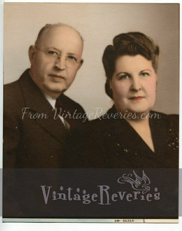 1940s or 50s couple portrait