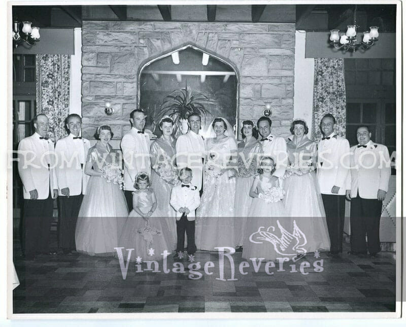 1950s wedding photo