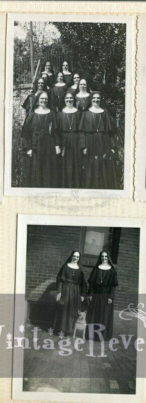 nuns with a dog