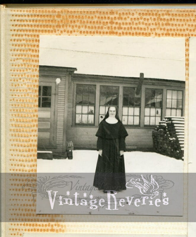 1930s nun in snow