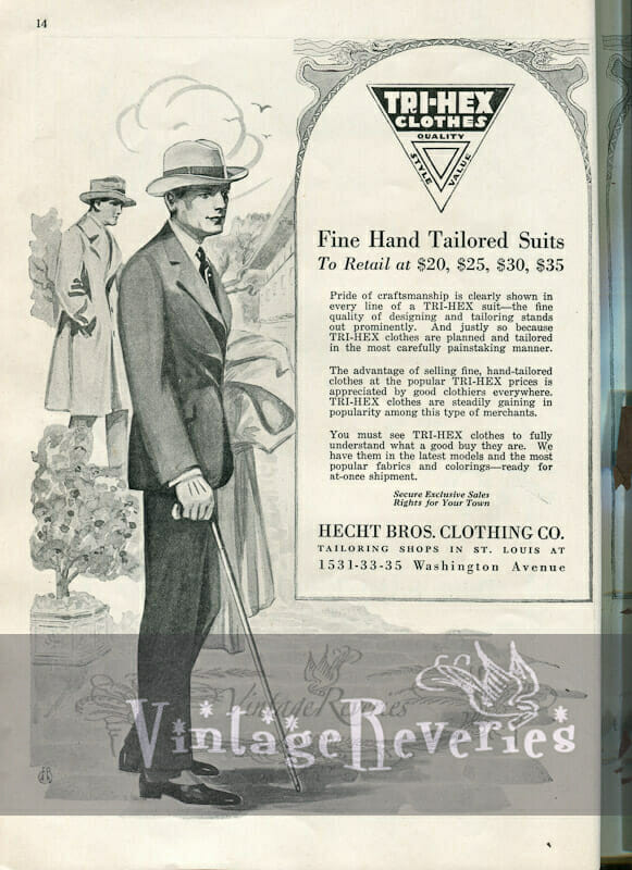 1920s mens suit fashions