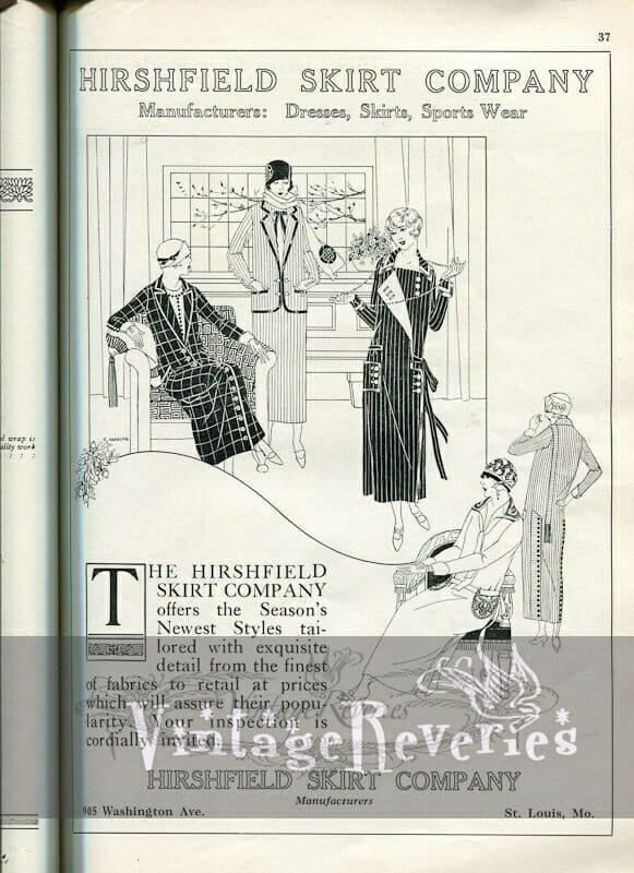 1924 fashion advertisement