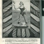 1924 swimsuit model in an advertisement