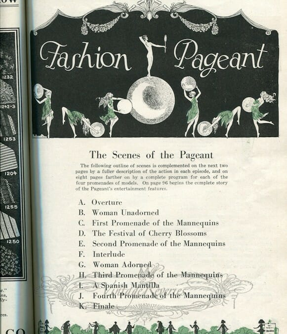 1924 St. Louis Fashion Pageant Program – pt 1