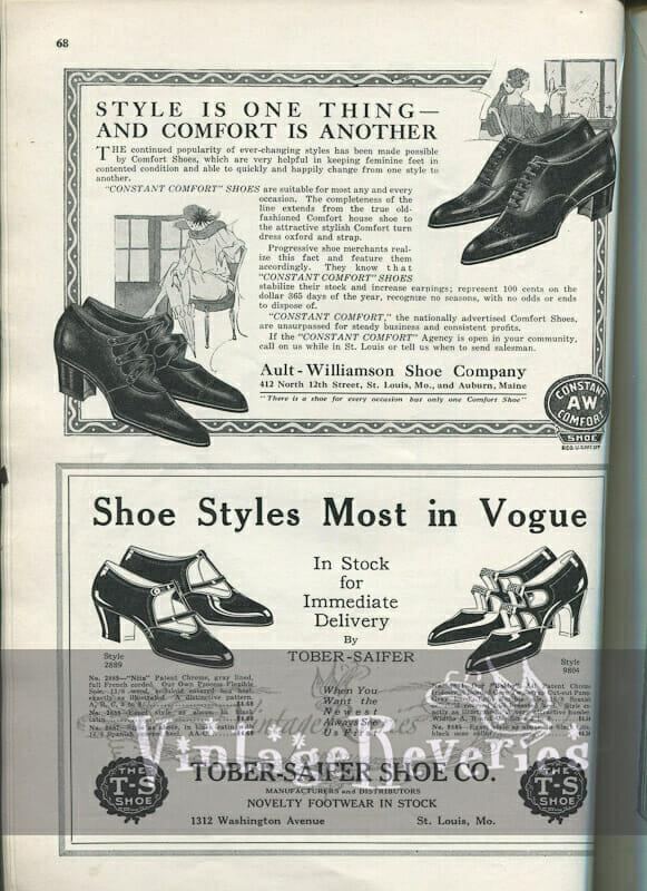 high heels advertisement 1920s