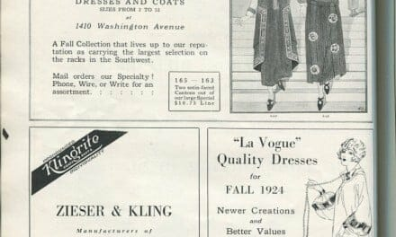1924 Dresses, Millinery, Coat, and Textile Ads